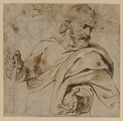Study for the figure of Saint Joseph