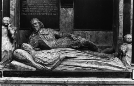 Bath Abbey;Monument to Lady Waller
