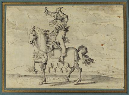 Equestrian acrobat