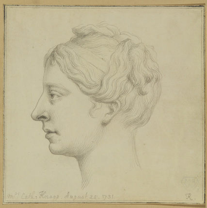 Profile portrait of a lady (Mrs Catherine Knapp)