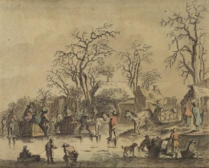 Dutch winter scene - December