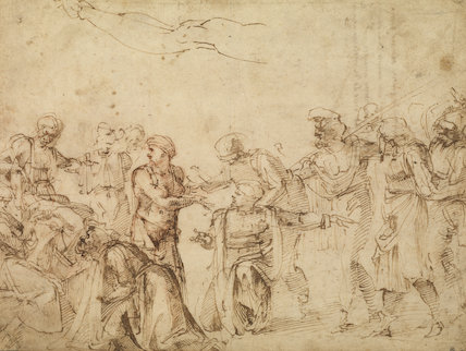 Christ before Pilate (recto)