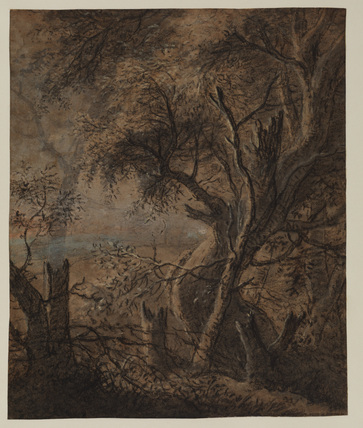 Landscape with a willow tree