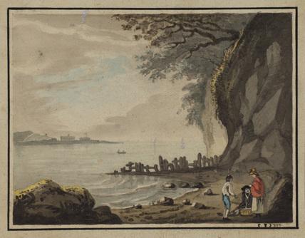 Landscape with figures - Landguard Fort, Essex