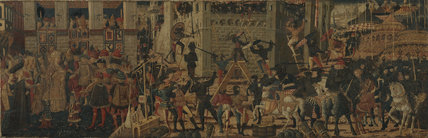 Cassone panel - Siege of Carthage and the Continence of Scipio