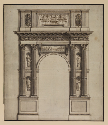 Design for a commemorative arch dedicated by Joseph Bonaparte (King of Spain) to Napoleon