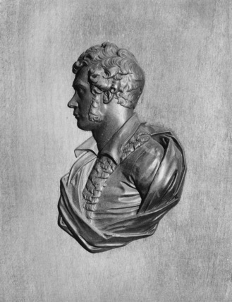 Relief of an unidentified man
