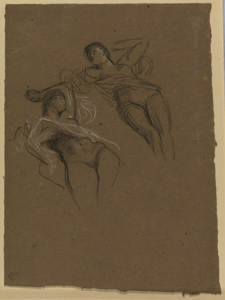 Studies of a recumbent female nude