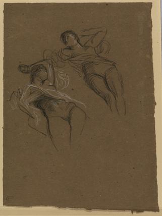 Studies of a recumbent female nude
