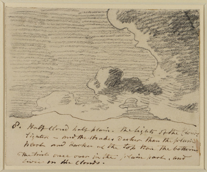 Cloud study (after Alexander Cozens' 'Engravings of Skies')
