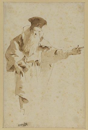 Bearded Oriental figure