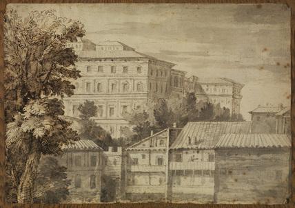 View of the Palazzo Barberini (recto)