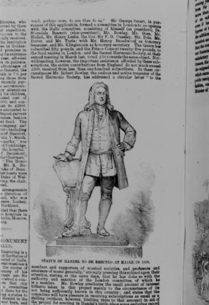Statue of George Frederick Handel