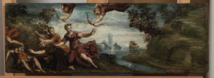Apollo and Diana killing the children of Niobe