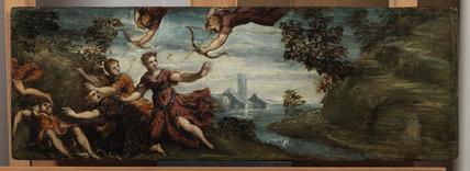 Apollo and Diana killing the children of Niobe