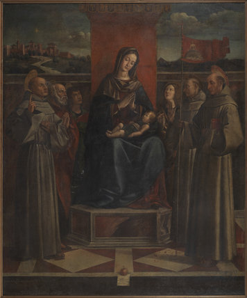 Virgin and Child enthroned with six saints