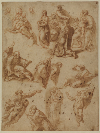 Studies after Raphael's 'Tranfiguration', and other compositions