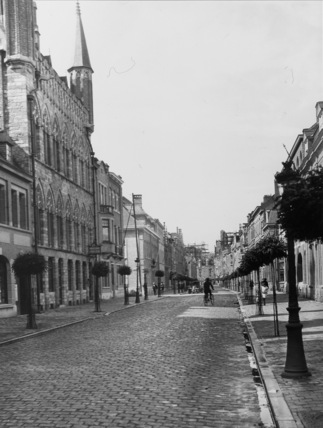 View of a street in Ypres