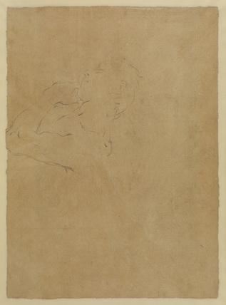 Study of a male torso (upper half) (verso)