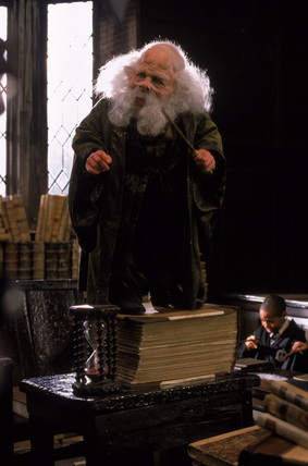 Prof. Flitwick teaching Charms