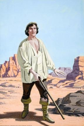 Cego, o Príncipe vagueia pelo deserto.