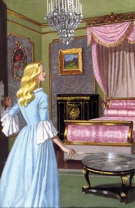 Beauty in her new bedroom
