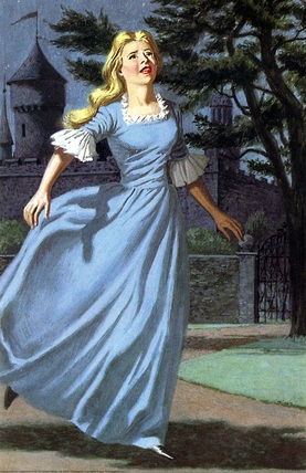 Beauty runs to the rosebush