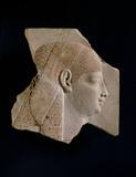 Sculptor&#039;s trial piece with head of Isis
