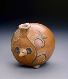 Pottery vessel in shape of a hedgehog