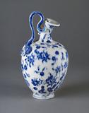 Flask of imitation porcelain