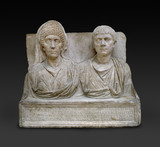 Tombstone of the doctor Claudius Agathemerus and his wife Myrtale