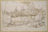 Venice: The Dogana and S. Maria della Salute from the Molo di Terranova