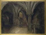 Mont Saint Michel; Le crypte de l'Aquilon