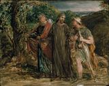Sketch for 'Christ's Appearance to the two Disciples journeying to Emmaus'