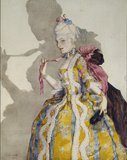 Design for a Costume of a Marquise for the ballerina Tamara Karsavina