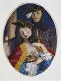 Couple dressed for a Venetian Carnival