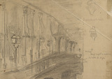Study of London Bridge for 'London Bridge on the Night of the Marriage of the Prince and Princess of Wales'