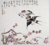 Bird painting - Swallows