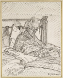 Portrait of the Artist's Mother writing in Bed