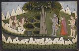 Rama, Sita and Laksmana in a landscape with ascetics