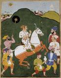 Equestrian portrait of Maharana Raj Singh I of Mewar