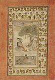 Maharana Sangram Singh seated with a yogi