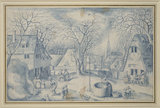 A village Scene: Winter