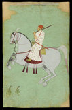 Maharaja Dhiraj Singh riding, c. 1700