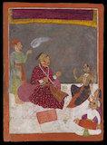 Maharaja Dhiraj Singh watches a nautch