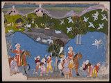 Maharana Amar Singh hunting sarus crane, c. 1700