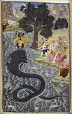 Krishna dancing on the head of Kaliya
