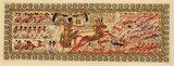 Tutankhamun hunting gazelle, painting
