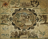 "Embroidered picture: ""The Sacrifice of Isaac"", 1673"