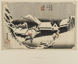 Woodblock print - Kambara (Yoru no yuki)